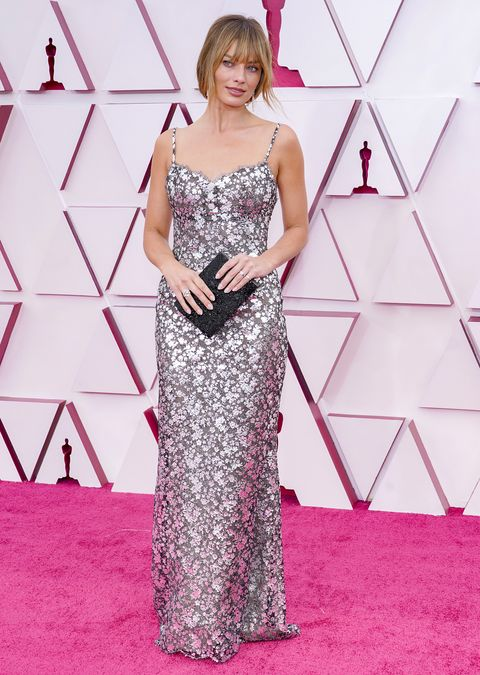 los angeles, california – april 25 margot robbie attends the 93rd annual academy awards at union station on april 25, 2021 in los angeles, california photo by chris pizzello poolgetty images