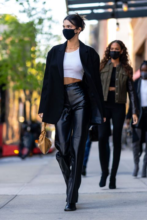 new york, new york   april 26 kendall jenner and joan smalls are seen in tribeca on april 26, 2021 in new york city photo by gothamgc images
