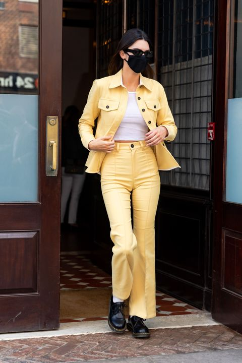 new york, new york   april 28 kendall jenner is seen in tribeca on april 28, 2021 in new york city photo by gothamgc images