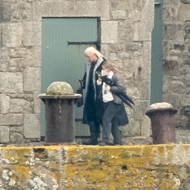 penzance, england   april 29 matt smith seen in costume on the filmset for the new game of thrones prequel house of the dragon at st michaels mount on april 29, 2021 near penzance, cornwall, england photo by gc images