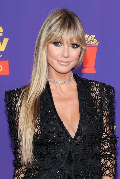 los angeles, california   may 17 in this image released on may 17, heidi klum attends the 2021 mtv movie  tv awards unscripted in los angeles, california photo by amy sussmangetty images
