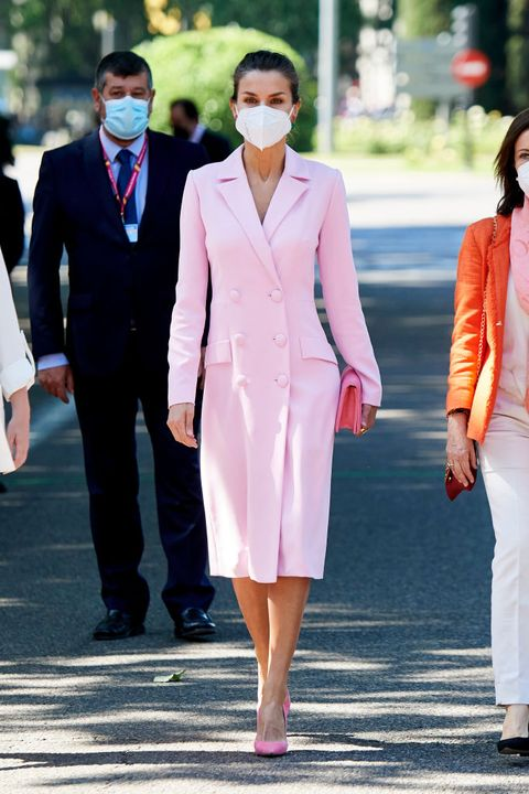 madrid, spain   may 29 queen letizia of spain attends armed forces day on may 29, 2021 in madrid, spain photo by carlos alvarezgetty images