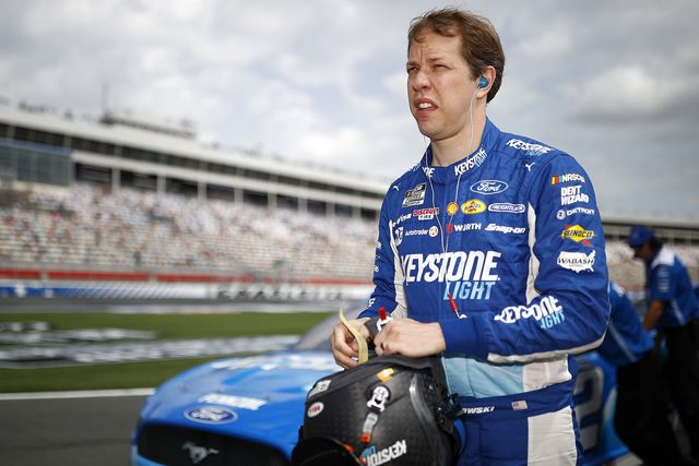 concord, north carolina   may 29 brad keselowski, driver of the 2 keystone light ford, waits on the grid during qualifying for the nascar cup series coca cola 600 at charlotte motor speedway on may 29, 2021 in concord, north carolina photo by jared c tiltongetty images