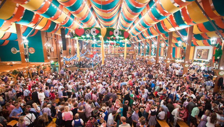 Oktoberfest from within  tent