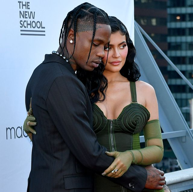 new york, new york   june 15 travis scott and kylie jenner attend the the 72nd annual parsons benefit at pier 17 on june 15, 2021 in new york city photo by craig barrittgetty images for the new school