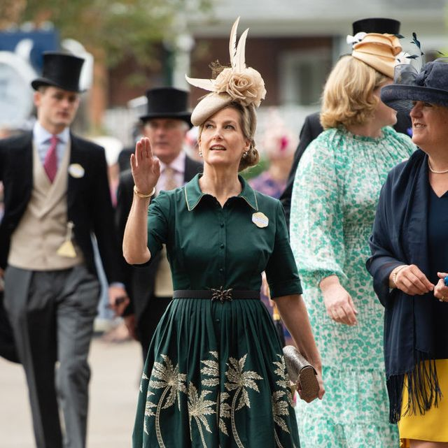 ascot, england   june 17 sophie, countess of wessex attend royal ascot 2021 at ascot racecourse on june 17, 2021 in ascot, england photo by samir husseinwireimage