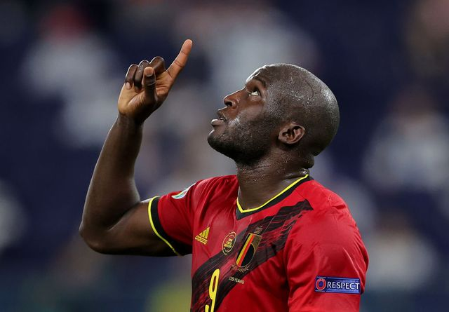saint petersburg, russia   june 21 romelu lukaku of belgium celebrates scoring a goal which is later disallowed by var for offside during the uefa euro 2020 championship group b match between finland and belgium at saint petersburg stadium on june 21, 2021 in saint petersburg, russia photo by joosep martinson   uefauefa via getty images