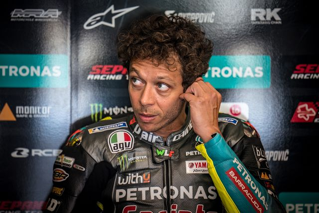 assen, netherlands   june 25 valentino rossi of italy and petronas yamaha srt looks during the motogp free practice at tt circuit assen on june 25, 2021 in assen, netherlands photo by steve wobsergetty images
