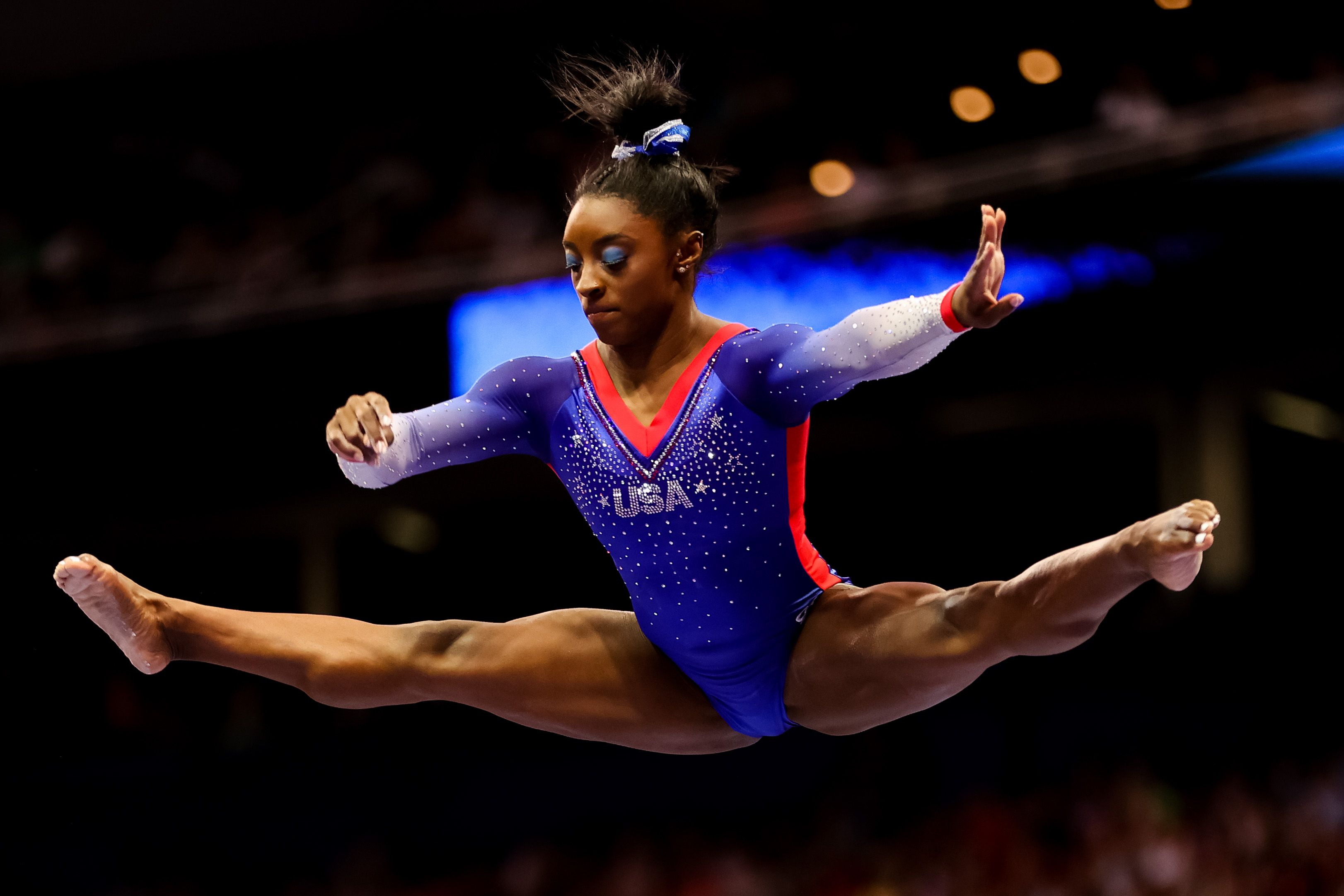 Watch Simone Biles' Gravity-Defying Floor Routine from Olympic Trials