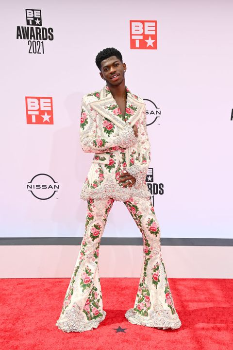 los angeles, california   june 27 lil nas x attends the bet awards 2021 at microsoft theater on june 27, 2021 in los angeles, california photo by paras griffingetty images for bet
