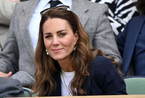 london, england   july 02 catherine, duchess of cambridge attends the wimbledon tennis championships at the all england lawn tennis and croquet club on july 02, 2021 in london, england photo by karwai tangwireimage
