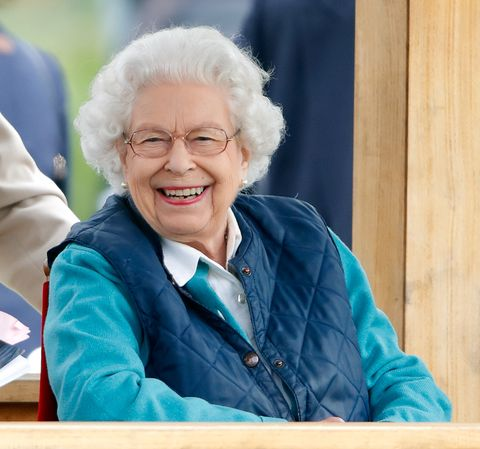 windsor, united kingdom   july 03 embargoed for publication in uk newspapers until 24 hours after create date and time queen elizabeth ii watches her horse first receiver compete in and win the retired racehorses   ror open in hand show series qualifier class on day 3 of the royal windsor horse show in home park, windsor castle on july 3, 2021 in windsor, england photo by max mumbyindigogetty images