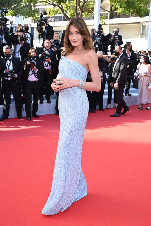 cannes, france   july 06 carla bruni attends the annette screening and opening ceremony during the 74th annual cannes film festival on july 06, 2021 in cannes, france photo by daniele venturelliwireimage
