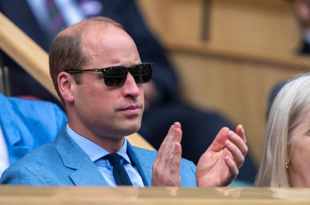 hrh the duke of cambridge in the royal box during the ashleigh barty aus and karolina pliskova cze match in the final of the ladies' singles on centre court at the championships 2021 held at the all england lawn tennis club, wimbledon day 12 saturday 10072021 credit aeltcjed leicester
