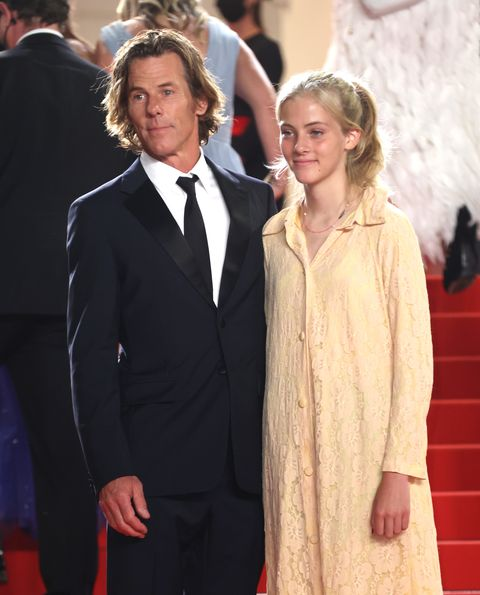 cannes, france   july 10 hazel moder and daniel moder attend the flag day screening during the 74th annual cannes film festival on july 10, 2021 in cannes, france photo by mike marslandwireimage