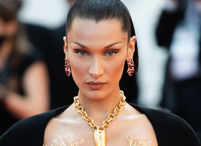 cannes, france   july 11 bella hadid attends the tre piani three floors screening during the 74th annual cannes film festival on july 11, 2021 in cannes, france photo by samir husseinwireimage