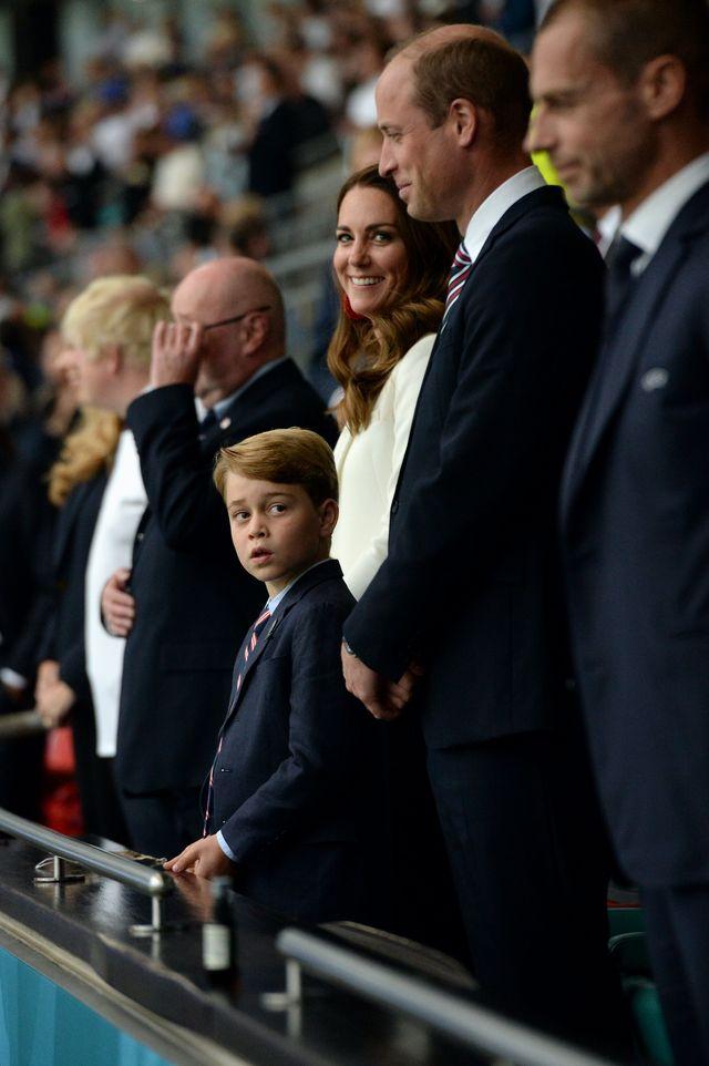 prince george prince william kate middleton euro final