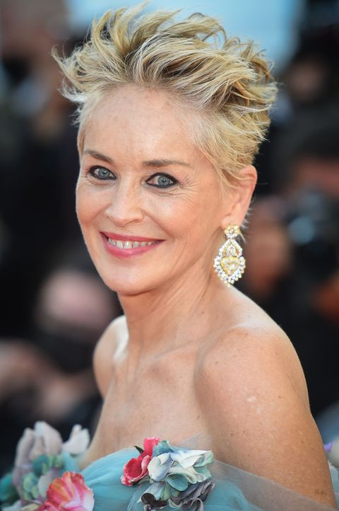 cannes, france   july 14 sharon stone attends the a felesegam tortenetethe story of my wife screening during the 74th annual cannes film festival on july 14, 2021 in cannes, france photo by stephane cardinale   corbiscorbis via getty images