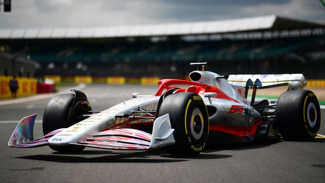 northampton, england   july 15 a detail shot as the prototype for the 2022 f1 season is unveiled during previews ahead of the f1 grand prix of great britain at silverstone on july 15, 2021 in northampton, england photo by mario renzi   formula 1formula 1 via getty images