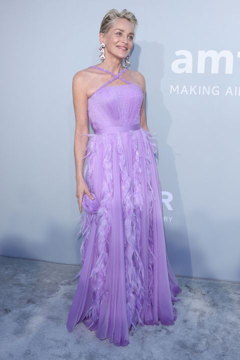 cap d'antibes, france   july 16 sharon stone attends the amfar cannes gala 2021 at villa eilenroc on july 16, 2021 in cap d'antibes, france photo by andreas rentzamfargetty images for amfar