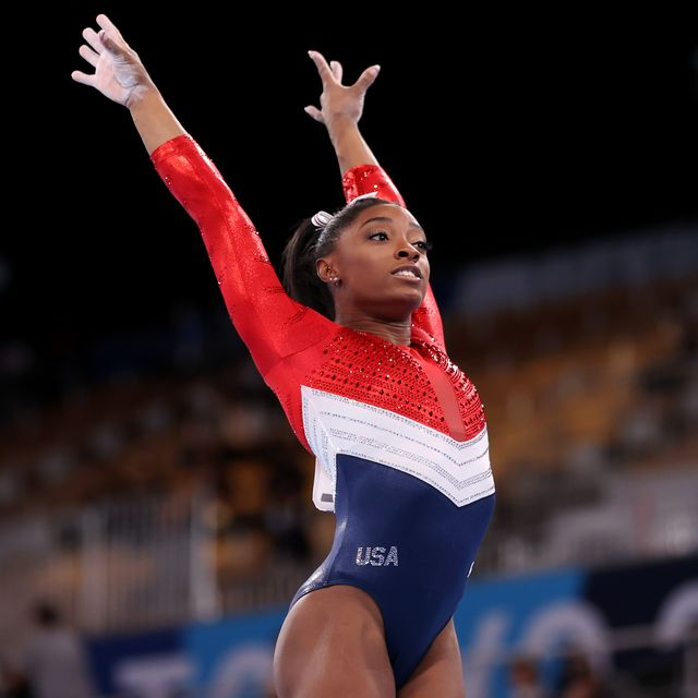 tokyo, japan   july 27 simone biles of team united states competes on vault during the womens team final on day four of the tokyo 2020 olympic games at ariake gymnastics centre on july 27, 2021 in tokyo, japan photo by laurence griffithsgetty images