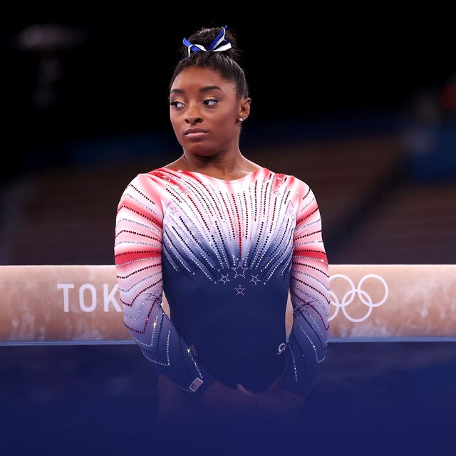 tokyo, japan   august 03 simone biles of team united states competes in the womens balance beam final on day eleven of the tokyo 2020 olympic games at ariake gymnastics centre on august 03, 2021 in tokyo, japan photo by laurence griffithsgetty images