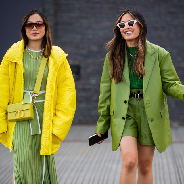 copenhagen, denmark   august 11 guests seen wearing yellow and green outside mother of pearl on august 11, 2021 in copenhagen, denmark photo by christian vieriggetty images