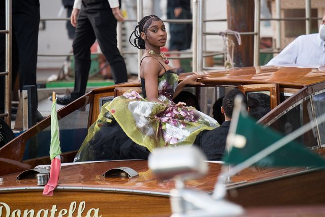 venice, italy   august 29 normani is seen during the dolcegabbana alta moda show on august 29, 2021 in venice, italy photo by jacopo raulegetty images