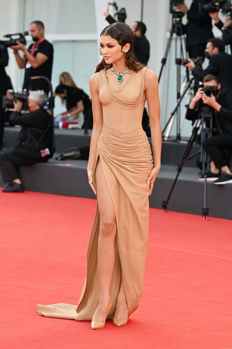 """venice, italy   september 03 zendaya attends the red carpet of the movie """"dune"""" during the 78th venice international film festival on september 03, 2021 in venice, italy photo by daniele venturelliwireimage"""