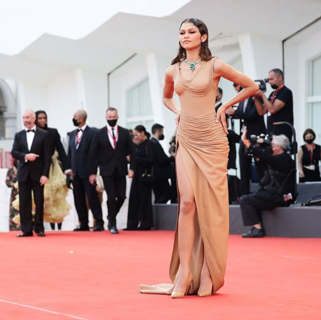 venice, italy   september 03 zendaya attends the red carpet of the movie dune during the 78th venice international film festival on september 03, 2021 in venice, italy photo by vittorio zunino celottogetty images