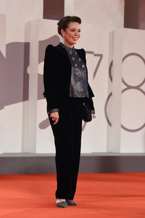 """venice, italy   september 03   olivia colman attends the red carpet of the movie """"the lost daughter"""" during the 78th venice international film festival on september 03, 2021 in venice, italy photo by stefania d'alessandrogetty images"""