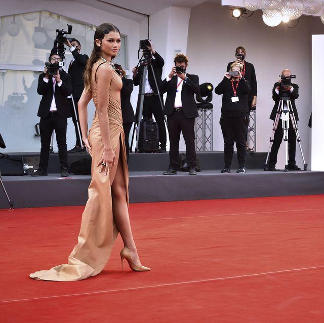 american actress zendaya at the 78 venice international film festival 2021  dune red carpet venice italy, september 3rd, 2021 photo by rocco spazianiarchivio spazianimondadori portfolio via getty images