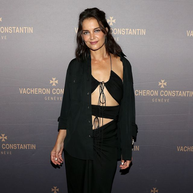 new york, new york   september 08 katie holmes attends the vacheron constantin flagship grand opening on september 08, 2021 in new york city photo by bennett raglingetty images