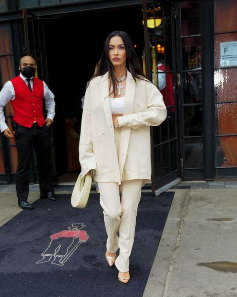 new york, new york   september 09 megan fox leaves her hotel on september 09, 2021 in new york city photo by gothamgc images