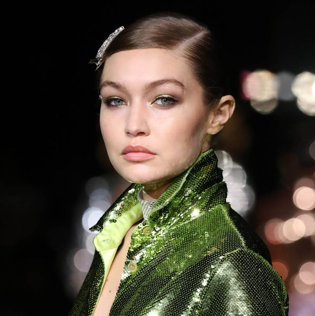 new york, new york   september 12 gigi hadid walks the runway for tom ford ss22 during nyfw the shows at david h koch theater, lincoln center on september 12, 2021 in new york city photo by jp yimgetty images