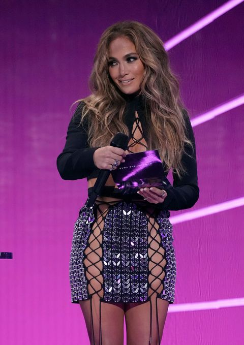 new york, new york   september 12 jennifer lopez speaks onstage during the 2021 mtv video music awards at barclays center on september 12, 2021 in the brooklyn borough of new york city photo by jeff kravitzmtv vmas 2021getty images for mtvviacomcbs