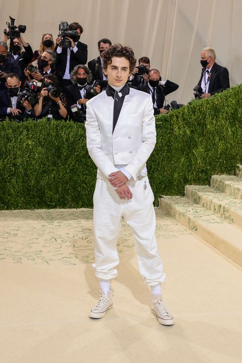 new york, new york   september 13 co chair timothée chalamet attends the 2021 met gala celebrating in america a lexicon of fashion at metropolitan museum of art on september 13, 2021 in new york city photo by theo wargogetty images