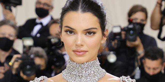 new york, new york   september 13 kendall jenner attends the 2021 met gala celebrating in america a lexicon of fashion at metropolitan museum of art on september 13, 2021 in new york city photo by mike coppolagetty images