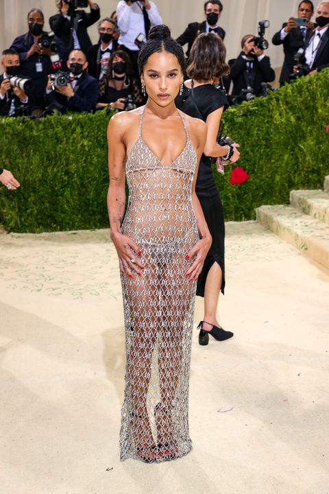 new york, new york   september 13 zoë kravitz attends the 2021 met gala celebrating in america a lexicon of fashion at metropolitan museum of art on september 13, 2021 in new york city photo by theo wargogetty images
