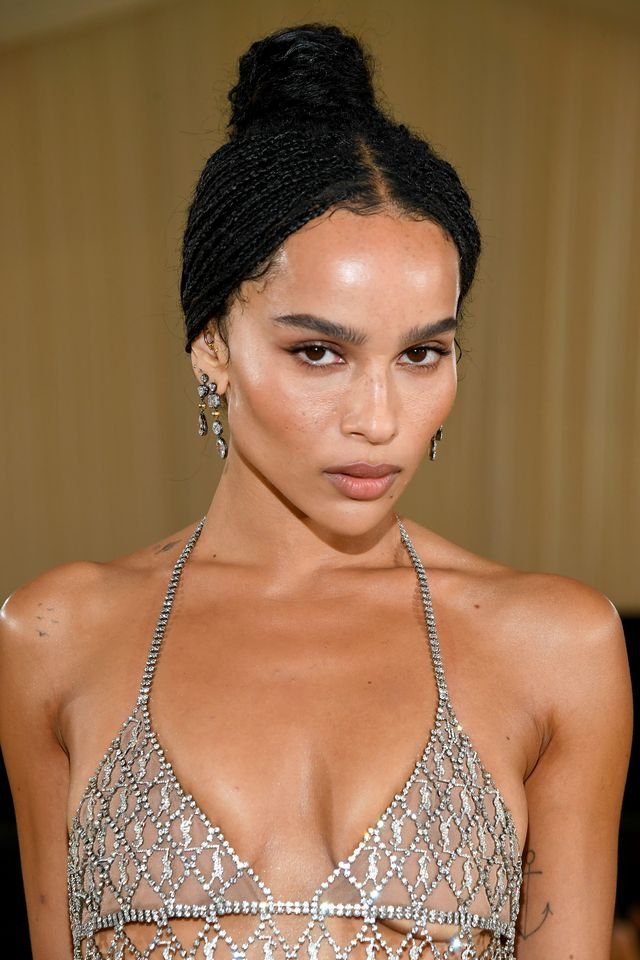 new york, new york   september 13 zoë kravitz attends the 2021 met gala celebrating in america a lexicon of fashion at metropolitan museum of art on september 13, 2021 in new york city photo by kevin mazurmg21getty images for the met museumvogue