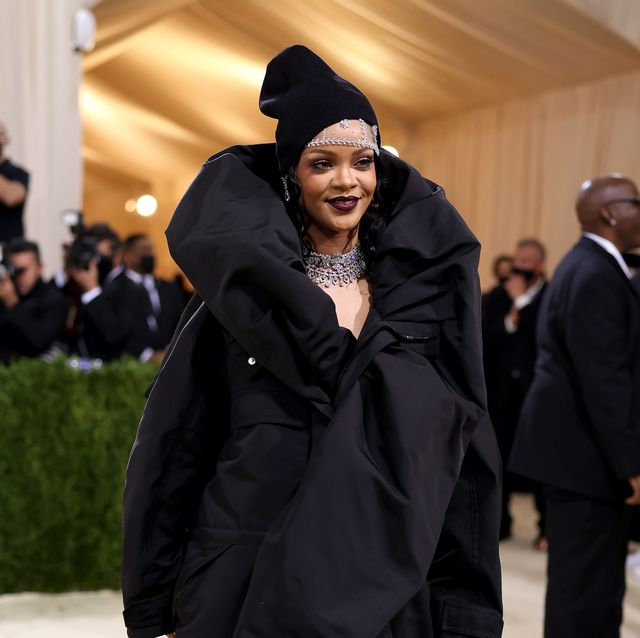 new york, new york   september 13 rihanna attends the 2021 met gala celebrating in america a lexicon of fashion at metropolitan museum of art on september 13, 2021 in new york city photo by john shearerwireimage