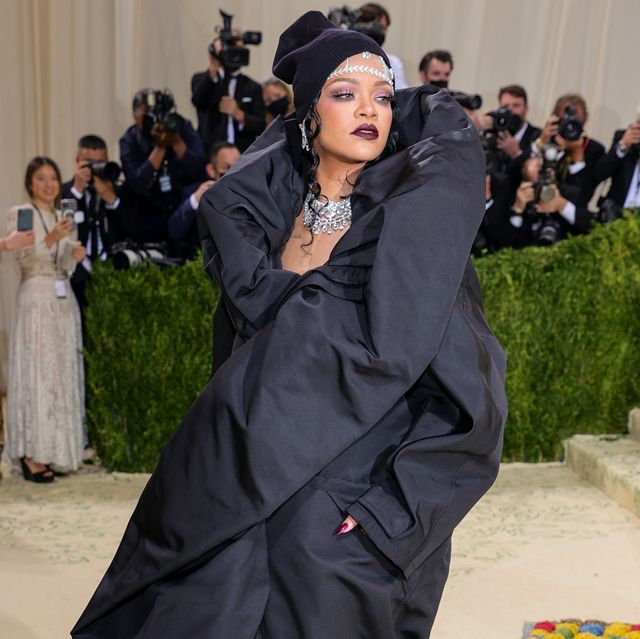 new york, new york   september 13 rihanna attends the 2021 met gala celebrating in america a lexicon of fashion at metropolitan museum of art on september 13, 2021 in new york city photo by theo wargogetty images