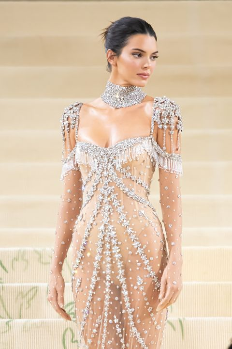 new york, new york   september 13 kendall jenner attends the 2021 met gala celebrating in america a lexicon of fashion at the metropolitan museum of art on september 13, 2021 in new york city photo by noam galaigc images