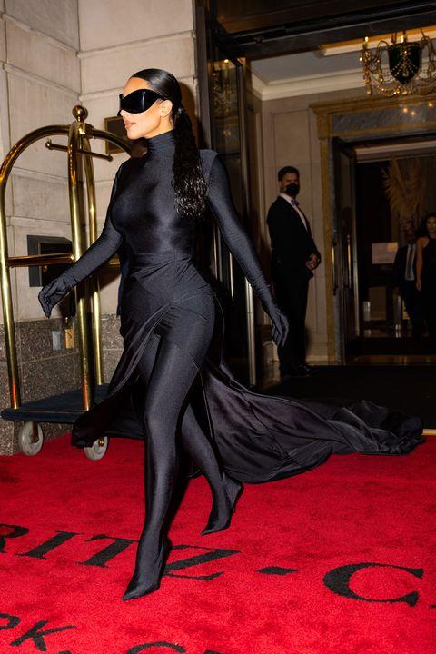 kim kardashian's met gala after party look in 2021
