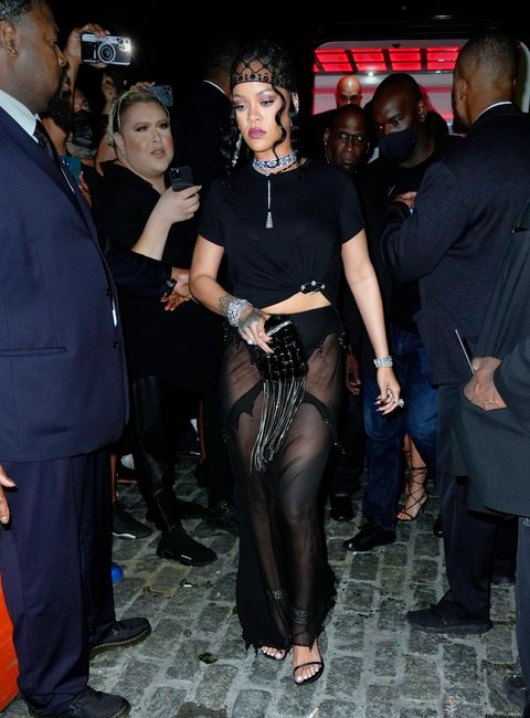 rihanna at her met gala after party