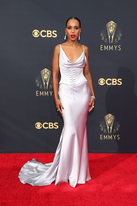 los angeles, california   september 19 kerry washington attends the 73rd primetime emmy awards at la live on september 19, 2021 in los angeles, california photo by rich furygetty images