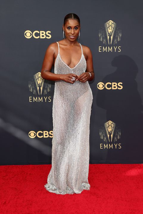 los angeles, california   september 19 issa rae attends the 73rd primetime emmy awards at la live on september 19, 2021 in los angeles, california photo by rich furygetty images