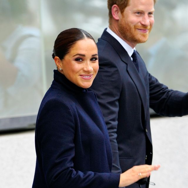 new york, new york   september 23 prince harry and meghan markle, duke and duchess of sussex visit 1 world trade center on september 23, 2021 in new york city photo by gothamgc images