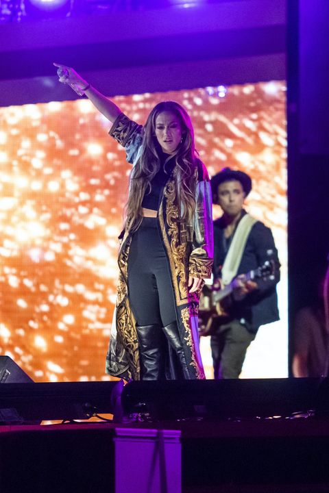 new york, new york september 24 jennifer lopez is seen rehearsing for the citizen of the world concert in central park on september 24, 2021 in new york city photo by gothamgc images