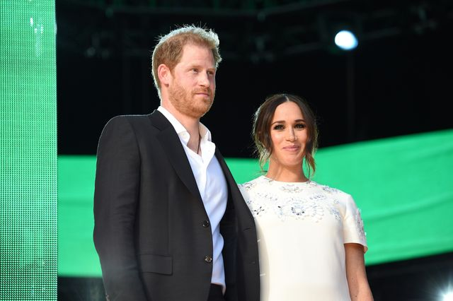 new york, new york   september 25 prince harry, duke of sussex and meghan, duchess of sussex speak onstage during global citizen live, new york on september 25, 2021 in new york city photo by kevin mazurgetty images for global citizen